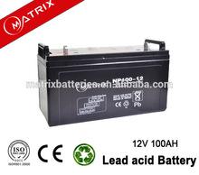 Matrix Battery Manufacturer Asia hot model solar gel batteries 12v 100ah