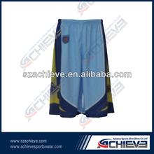 custom sublimated basketball shorts with free design