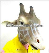 Adult Rubber Latex Animal Head Mask Giraffe Mask