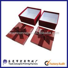 Red wedding favor box