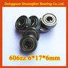 miniature ball bearing 606zz 6x17x6mm bearing for sliding door and windows