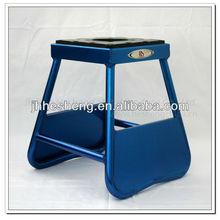 Neue marke aus poliertem aluminium motocross motorrad lift stand blaue farbe( hs- mp1)