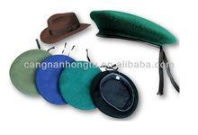 100% wool felt beret cap wear in winter for airline or railway or hotel