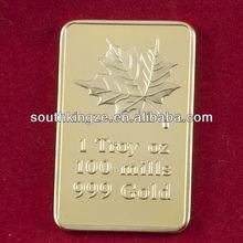 Made in china cheap customized 999 gold bar