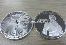 1oz best design gold/silver plated old silver coin
