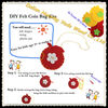 DIY felt craft heart shape coin pocket
