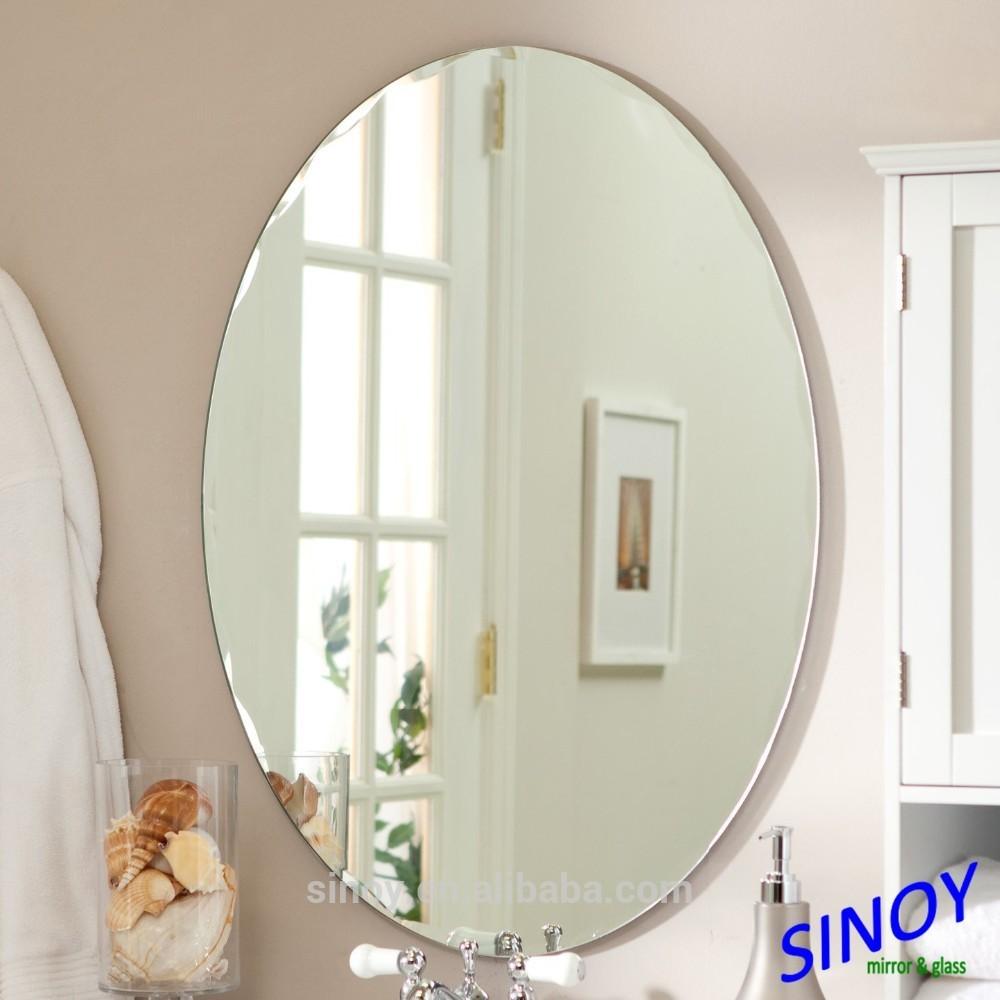 Espejos de baño y decorativos de madera, lacado y espejos de pared sin marco ()