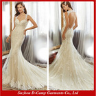 WD-2178 Low cut sexy mermaid wedding dresses patterns elegant bottom tulle mermaid wedding dress 2015