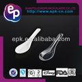 venda quente o mais popular para o restaurante e suprimentos de forma geral material comestível fda bpa free plástico descartável colher