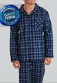 Conjunto de pijama de franela y algodón para hombre