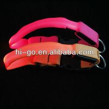 Pretty LED Flashing Nylon Collar Training Dog