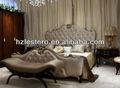 moderno lussuoso principessa di legno mobili camera da letto
