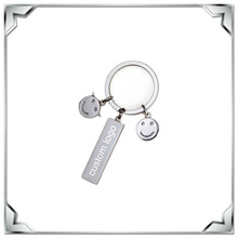 OED & ODM simple design key ring with smile face