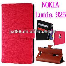 Flip cover PU leather for nokia Lumia 925 case