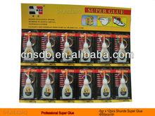 12pcs Blister Card &Plastic Bottle Super Glue 5g 4g