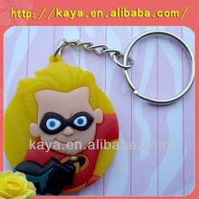 Promotional soft PVC 3D keychain / Plastic keyring