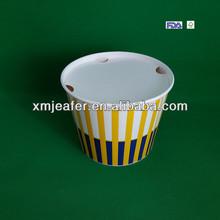 32oz-170oz fried chicken/popcorn printed paper buckets