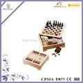 Ahşap kombinasyonu satranç oyunu seti 7/1 arada satranç oyunu