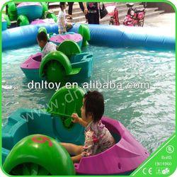 Lovely kids plastic aqua pontoon boat