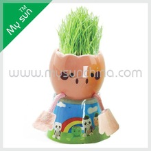 ceramic planting,novelty little plant of little chicken,children toy.