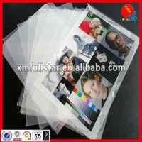 Transparent PET rigid sheets for ink jet printing