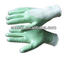 ENKERR nylon nitrile coated working gloves smooth finish 3/4 coated 13G knitted nylon glove