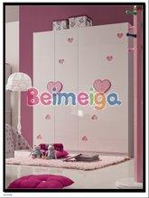 Kid Pink Wardrobe Set /Girls Kid Furniture Bedroom Wardrobe 853-02