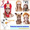 2014 Winter 50+ Styles Plush Animal Hats With Scarf Wolf Husky Panda Hats