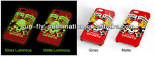 3D Sublimation Luminous blank phone case/ Noctilucent phone case for Iphone/High-quality cell phone case