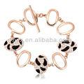 moda leopardo de pulsera hecha con el último 2013 púrpura collar hecho con cristales austriacos 30145 joyas