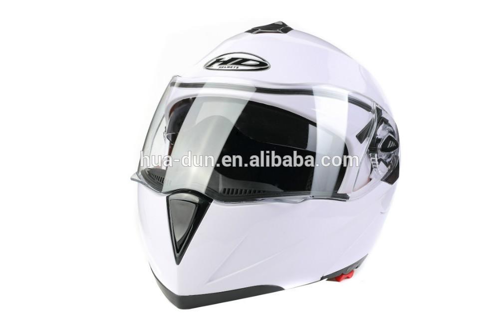 HuaDun DOT double visor flip up motorcycle helmet HD-701