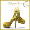 Small MOQ high quality fashion ladies high heel shoes