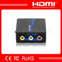 HDMI to AV Converter mini HDMI to AV RCA / CVBS Converter box 1080p hdmi to composite converter