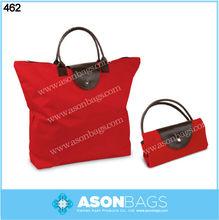 Promotional zipper closure Foldable tote bag