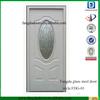 3/4 oval decorative glass Prehung Exterior Steel Door
