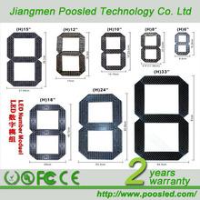 POOSLED hot 24'' large 7 segment led display digit led module