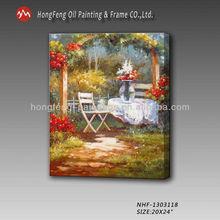 2014 Beautiful handmade canvas flower scenery garden oil painting