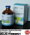 producto de la salud ceftiofur clorhidrato de solución inyectable para animales