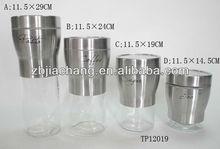 Tp12019 revestimiento de acero inoxidable de botellas decorativas para cocina