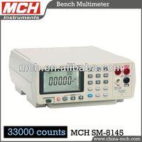 SM-8145 digital bench multimeter, digital dual display,33000 counts auto range dbm test diode test