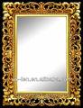 Gold/silber interieur wandbehang quadratischen spiegel mit pu rahmen für hauptdekoration