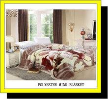 100% polyester cheap china manufacturer super soft weft flower printed mink blanket