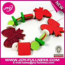 foam bows christmas beads necklace for kids kit