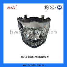 ponen de relieve 150cc delantero de la motocicleta distribuidor de la lámpara