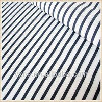 Soft Black White Stripe Linen Cotton Fabric for Bedding
