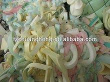 waste memory pu foam scrap in bales