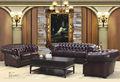 american style classique et de luxe chesterfiel salon en cuir canapé ensemble de meubles de maison