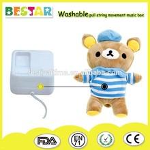 sankyo washable pull string music box movement for plush toy