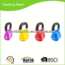 colorful vinyl coated cast iron competition kettlebell for sale