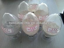 Calcium bentonite for animal feeds